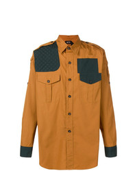 Camisa de manga larga estampada naranja de N°21