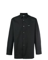 Camisa de manga larga estampada negra de Comme Des Garcons Play