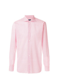 Camisa de manga larga estampada roja de Borriello