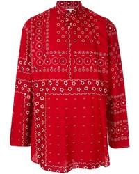 Camisa de manga larga estampada roja de Kolor