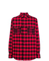 Camisa de manga larga estampada roja de Marcelo Burlon County of Milan