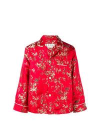 Camisa de manga larga estampada roja de Marni