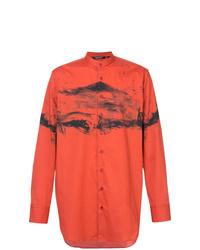 Camisa de manga larga estampada roja de Neil Barrett