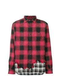 Camisa de manga larga estampada roja de R13