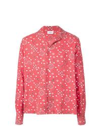 Camisa de manga larga estampada roja de Rhude