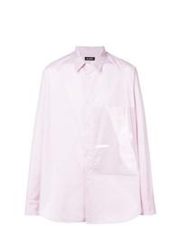 Camisa de manga larga estampada rosada de Raf Simons