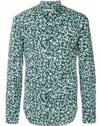 b38b9a68a20c Comprar una camisa de manga larga estampada verde: elegir camisas de ...