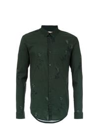 Camisa de manga larga estampada verde oscuro de OSKLEN