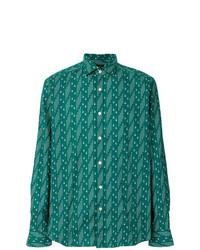 Camisa de manga larga estampada verde de Bagutta