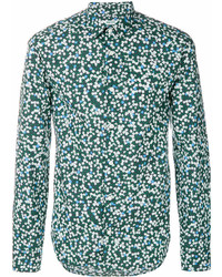 Camisa de manga larga estampada verde de Kenzo