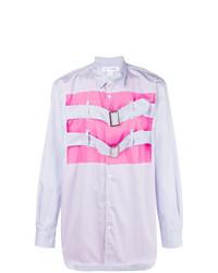 Camisa de Manga Larga Estampada Violeta Claro de Comme Des Garcons SHIRT