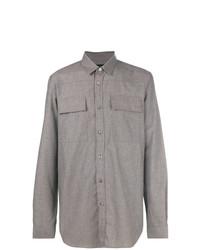 Camisa de manga larga gris de Ann Demeulemeester