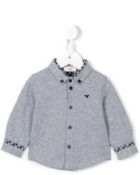 Camisa de manga larga gris de Armani Junior