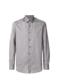 Camisa de manga larga gris de Boglioli