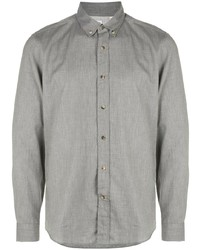 Camisa de manga larga gris de Brunello Cucinelli