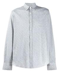 Camisa de manga larga gris de Canali