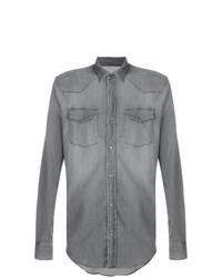Camisa de manga larga gris de Dondup