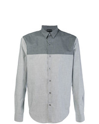 Camisa de manga larga gris de Emporio Armani