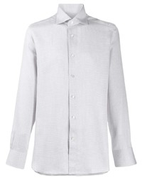 Camisa de manga larga gris de Ermenegildo Zegna