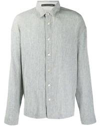 Camisa de manga larga gris de Issey Miyake Men