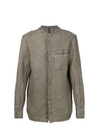 Camisa de manga larga gris de Masnada