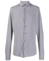 Camisa de manga larga gris de Z Zegna