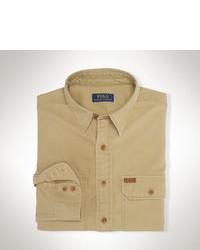 Camisa de manga larga marrón claro