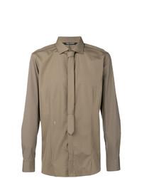 Camisa de manga larga marrón claro de Neil Barrett