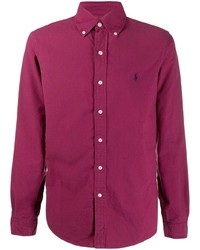 Camisa de manga larga morado de Polo Ralph Lauren