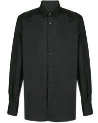Camisa de manga larga negra de Balmain