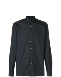 Camisa de Manga Larga Negra de Borriello