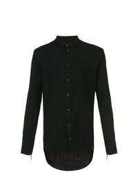 Camisa de manga larga negra de Cedric Jacquemyn