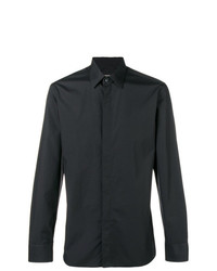 Camisa de manga larga negra de Ermenegildo Zegna
