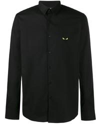 Camisa de manga larga negra de Fendi