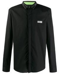 Camisa de manga larga negra de Frankie Morello