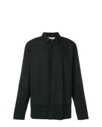 Camisa de manga larga negra de Helmut Lang