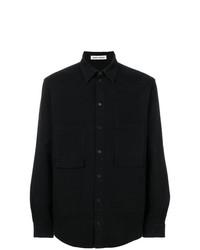 Camisa de Manga Larga Negra de Henrik Vibskov