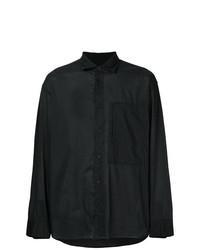 Camisa de manga larga negra de Issey Miyake Men
