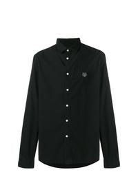 Camisa de manga larga negra de Kenzo