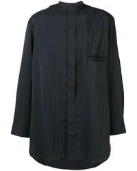 Camisa de manga larga negra de Lemaire