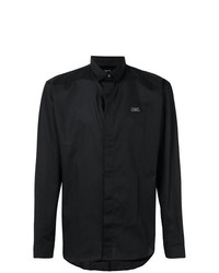 Camisa de Manga Larga Negra de Philipp Plein