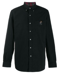 Camisa de manga larga negra de Polo Ralph Lauren