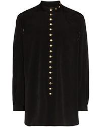 Camisa de manga larga negra de Yohji Yamamoto