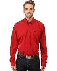 Camisa de manga larga roja de Cinch