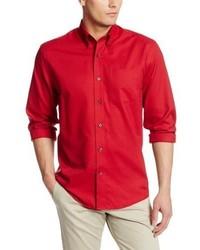 Camisa de Manga Larga Roja de Cutter & Buck