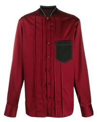 Camisa de manga larga roja de Lanvin