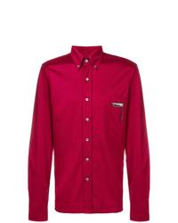 Camisa de manga larga roja de Prada