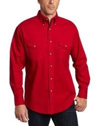 Camisa de Manga Larga Roja de Wrangler