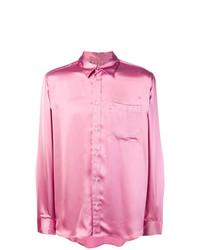 Camisa de manga larga rosada de MSGM