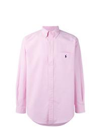 Camisa de manga larga rosada de Ralph Lauren
